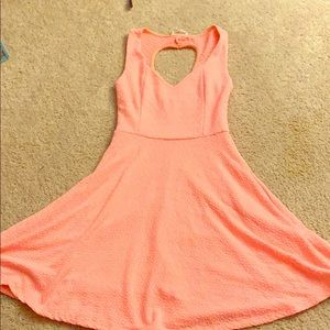 Neon fit and flare dress
